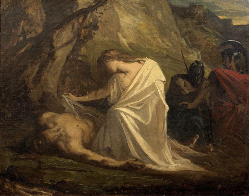 Benjamin-Constant, Antigone au chevet de Polynice, 1868