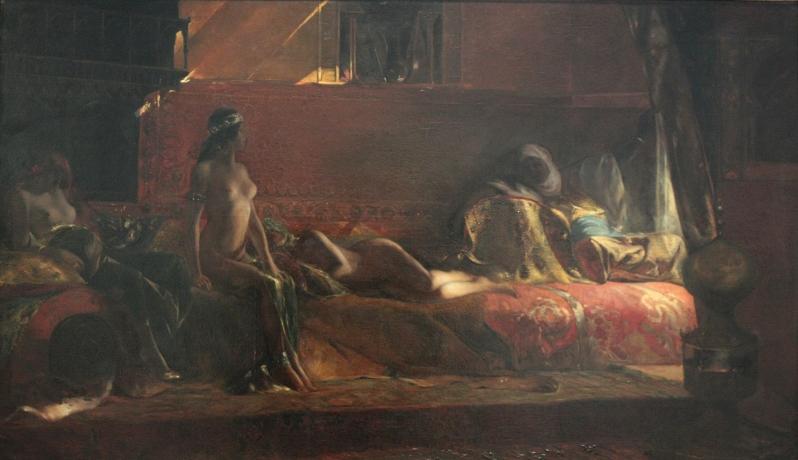Benjamin-Constant, Les Chérifas par Benjamin-Constant, réplique réduite du grand tableau du Salon de 1884, 1884
