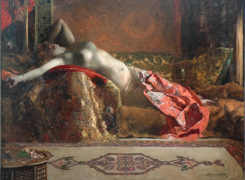 Benjamin-Constant, L'odalisque allongée, c.1870