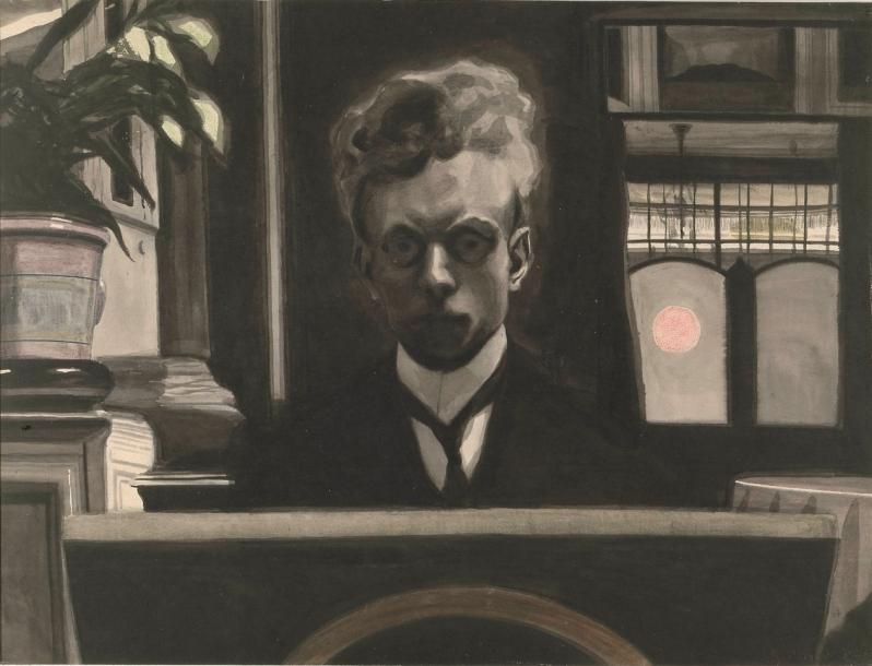 Leon Spilliaert, L'élévation, Self-Portrait 2