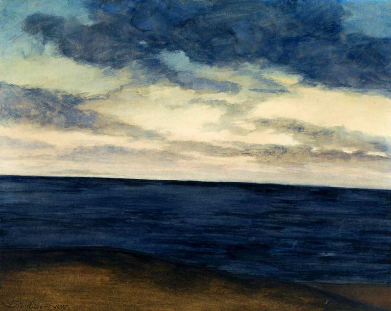 Leon Spilliaert, Plage et marine bleue, 1937