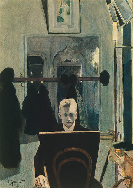 Leon Spilliaert, Self-Portrait. 1907