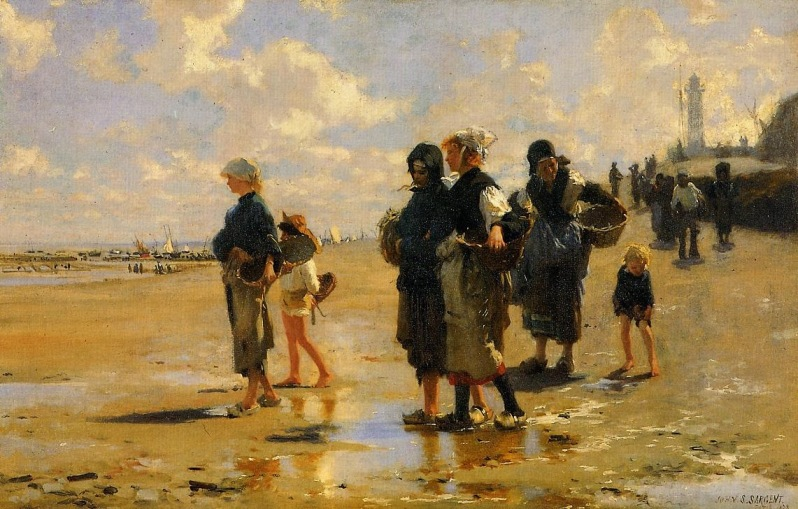 John Singer Sargent, Oyster Gatherers of Cancale, 1878