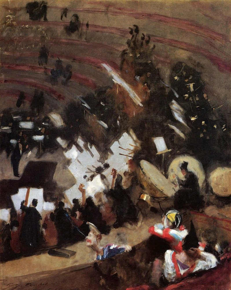 John Singer Sargent, Rehearsal of the Pasdeloup Orchestra at the Cirque, 1878