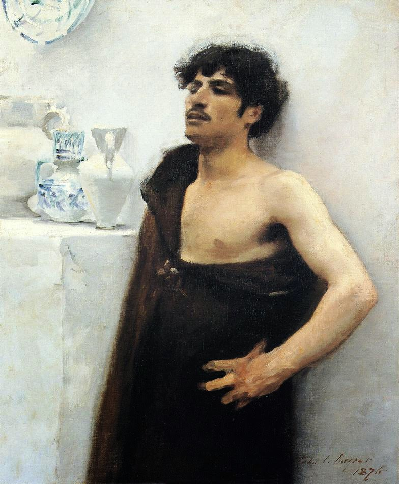 John Singer Sargent, Young Man in Reverie, 1876