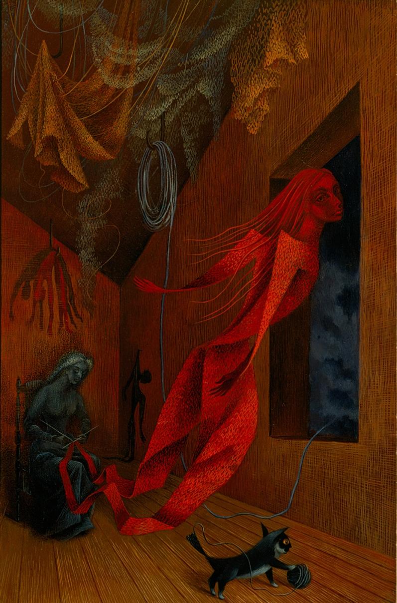 Remedios Varo, La tejedora roja, 1956