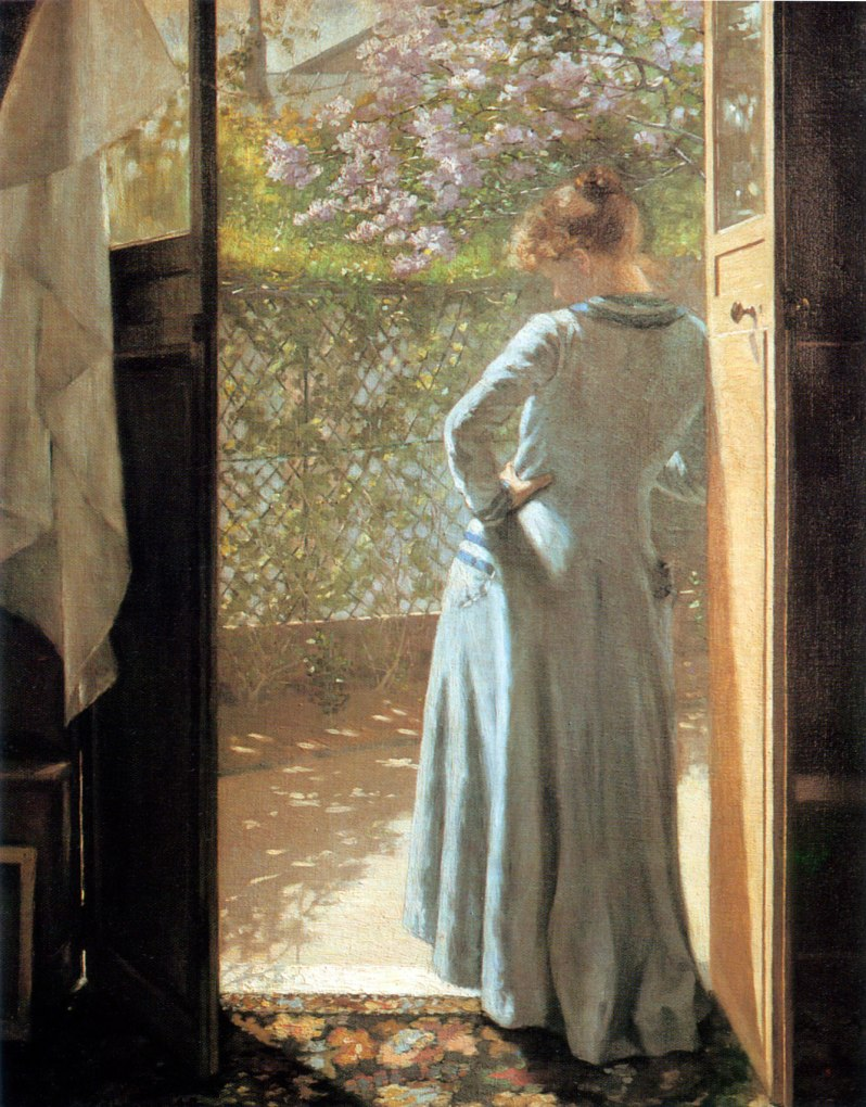 Eva Bonnier, At The Studio Door, 1885