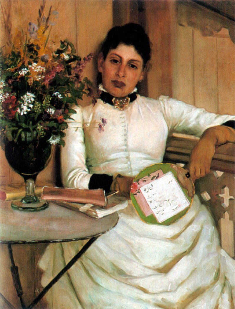 Eva Bonnier, On The Veranda, 1886