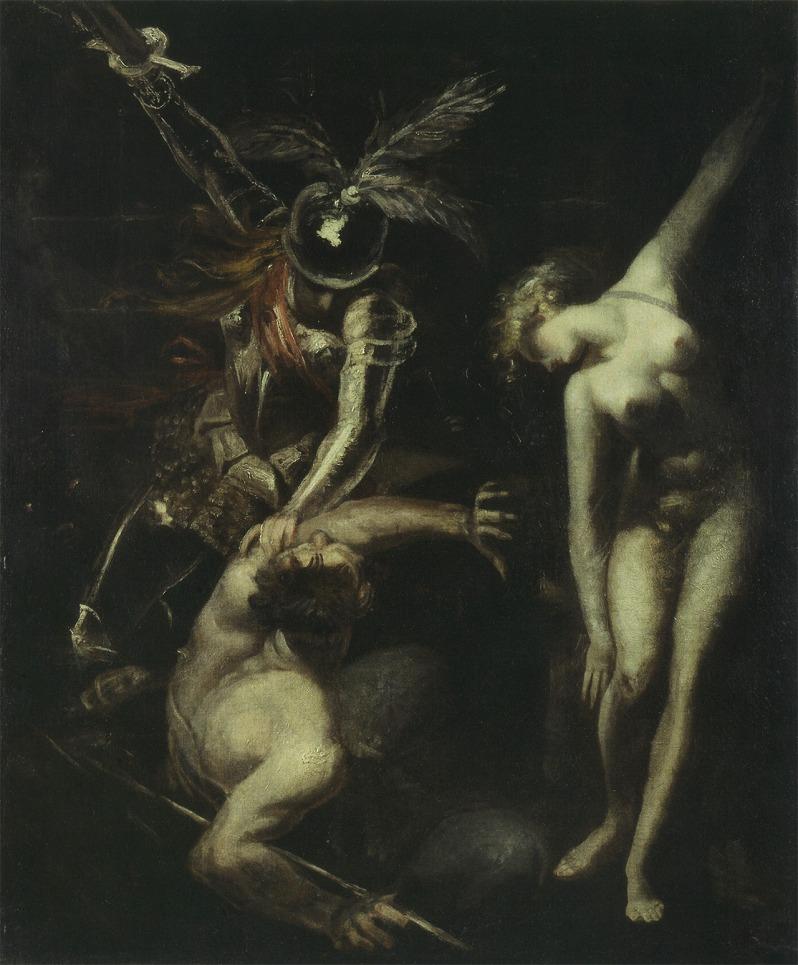 Johann Heinrich Füssli, Britomart Delivering Amoretta from the Enchantment of Busirane