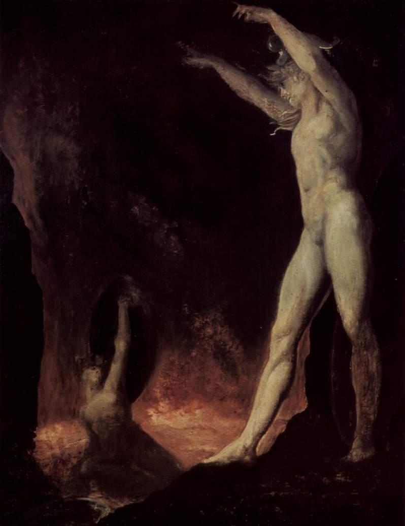 Johann Heinrich Füssli, Satanischer Aufruf an den Belzebub im Höllenfeuer, 1802