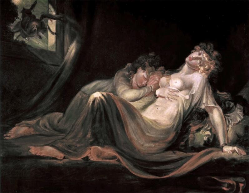 Johann Heinrich Füssli, The Incubus Leaving Two Sleeping Women, 1793