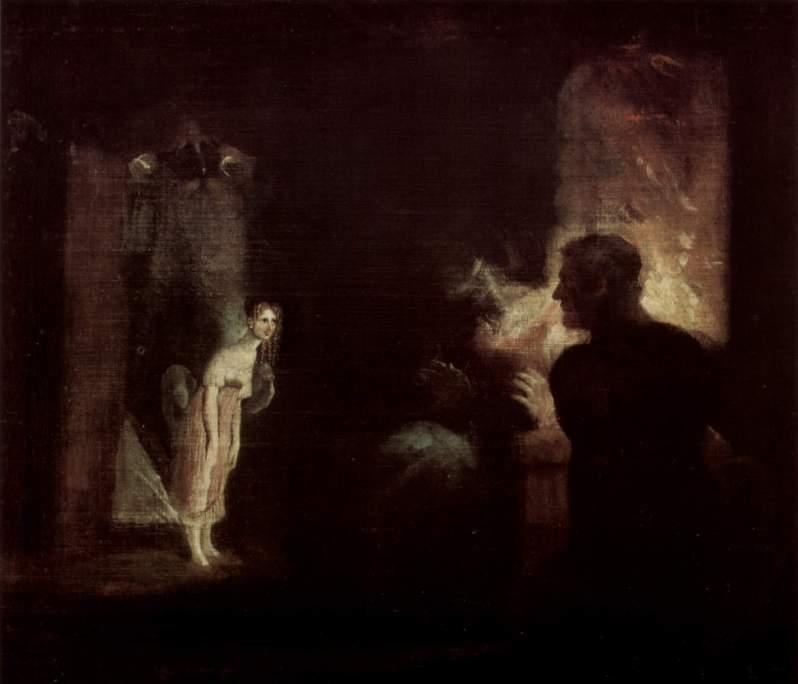 Johann Heinrich Füssli, Undine kommt in das Haus der Fischer, 1821