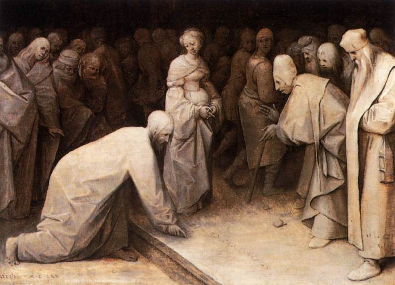 Pieter Brueghel el Viejo, Christ and the Woman Taken in Adultery, 1565