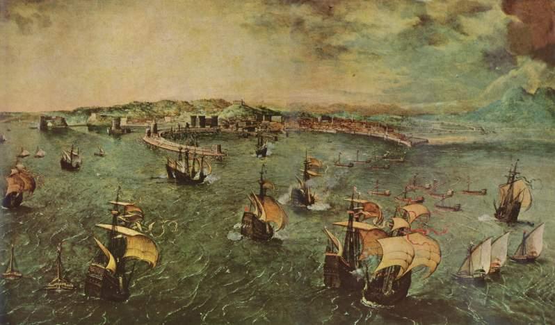 Pieter Brueghel el Viejo, Hafen von Neapel, c.1558
