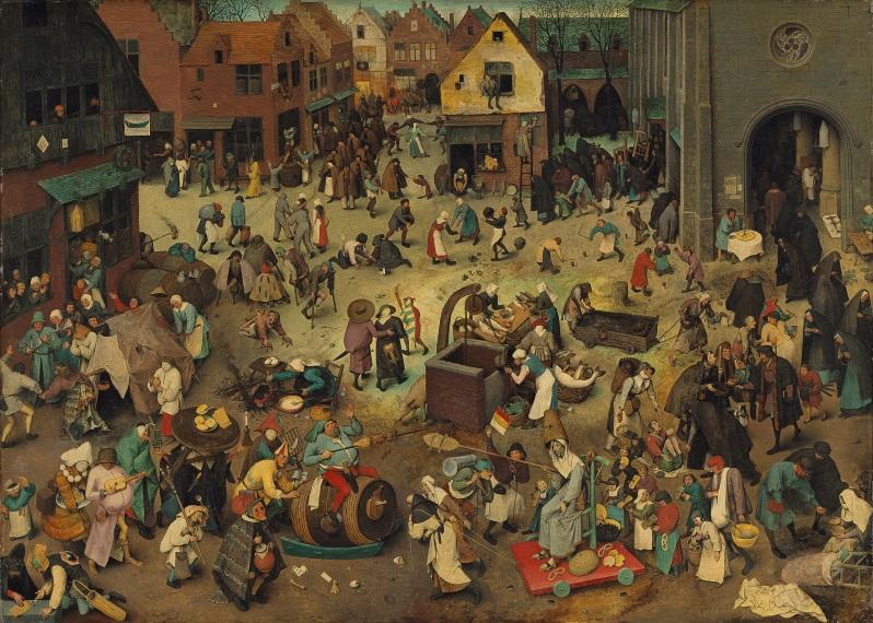 Pieter Brueghel el Viejo, The Fight Between Carnival and Lent, 1559