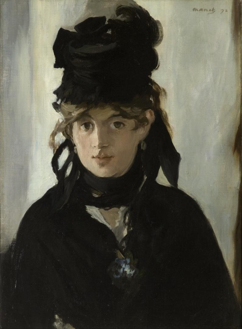 Manet, Berthe Morisot au bouquet de violettes, 1872