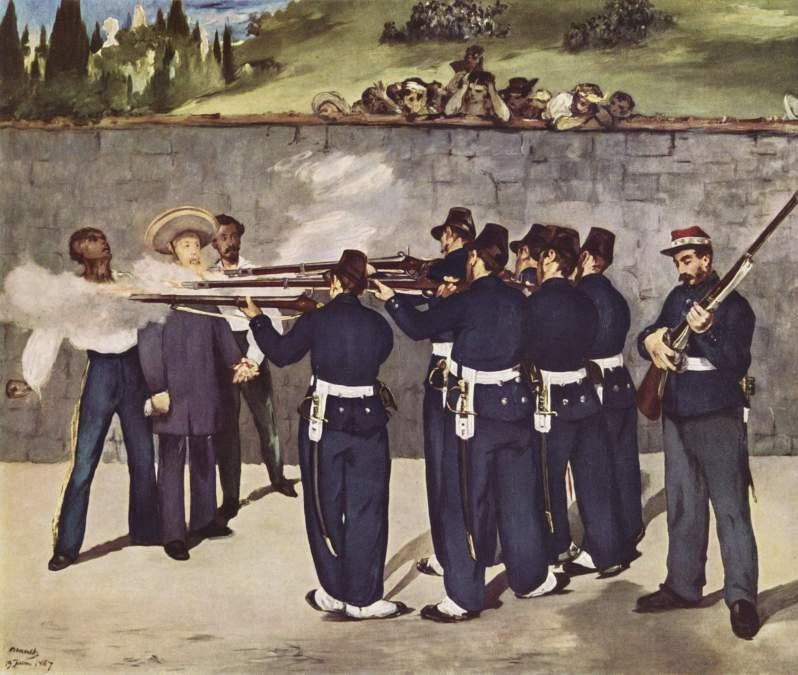 Manet, Exécution de l'Empereur Maximilien du Mexique, 1868