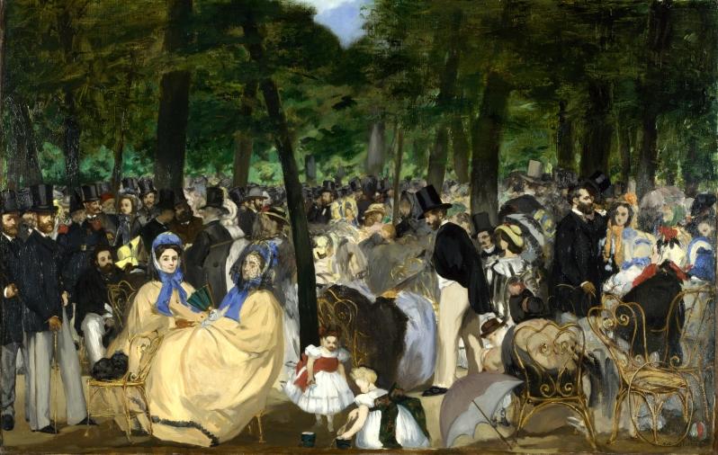 Manet, La Musique aux Tuileries, 1862