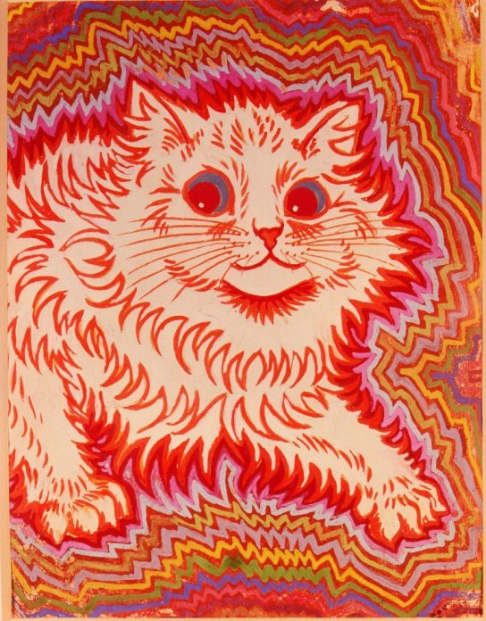 Louis Wain, Advancing Cat, c.1920