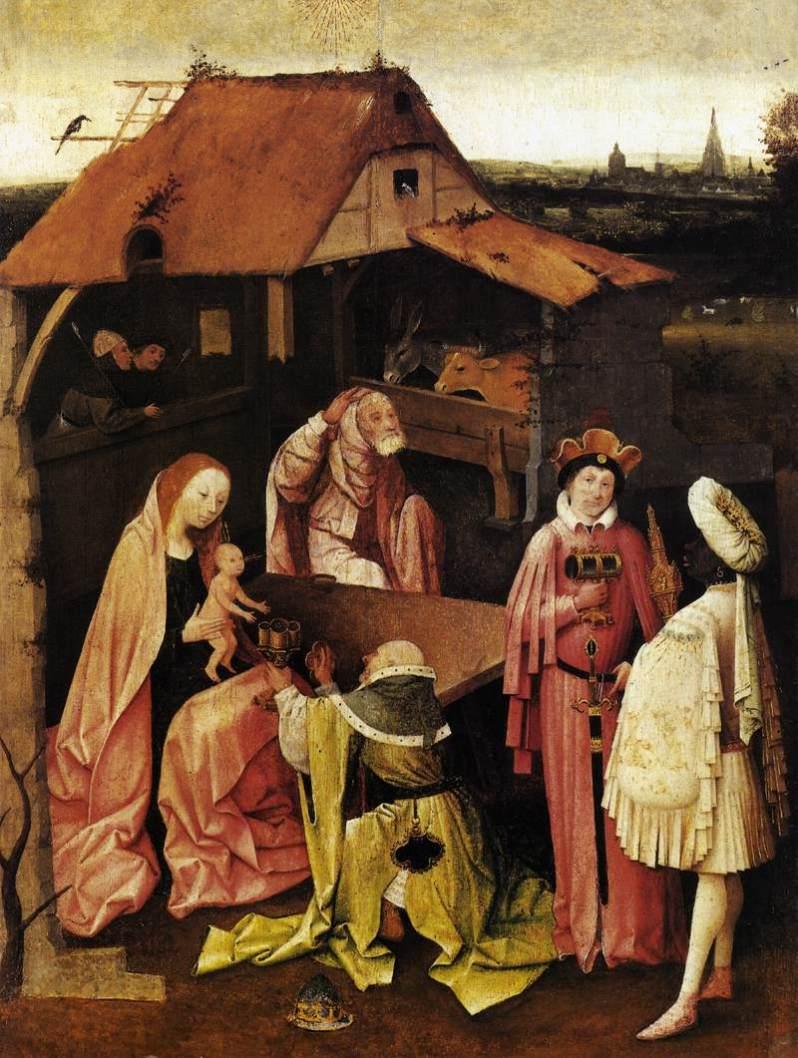 El Bosco, Adoración de los Reyes, c.1499