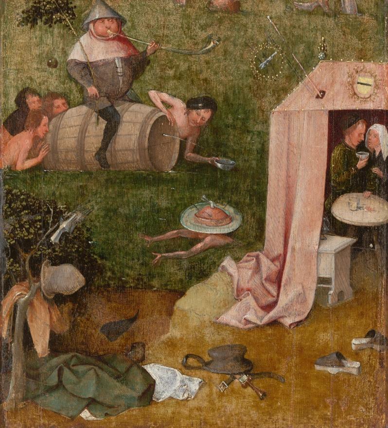 El Bosco, Alegoría de la Glotonería y la Lujuria, c.1500