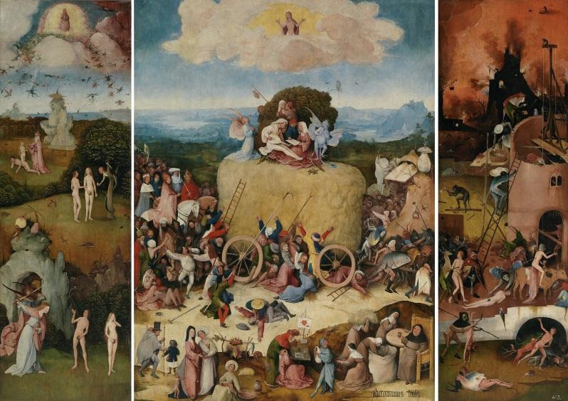 El Bosco, El carro del heno, c.1515