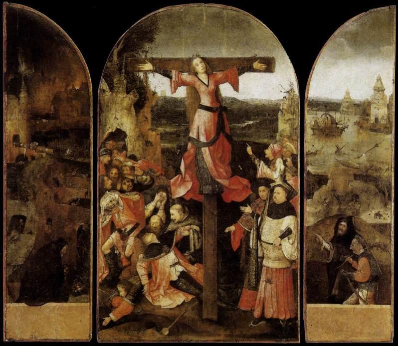 El Bosco, La Crucifixión de Santa Julia, c.1504