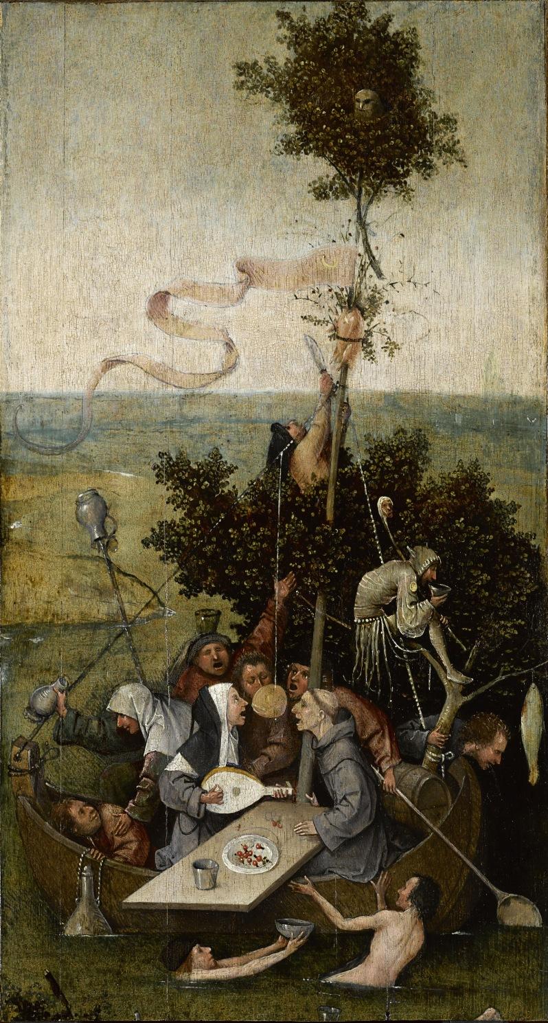 El Bosco, La nave de los locos, c.1504