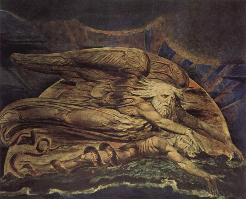 William Blake, Elohim creating Adam, 1795
