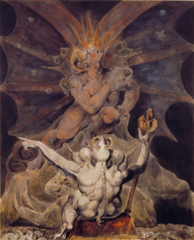 William Blake, he number of the beast is 666, 1805