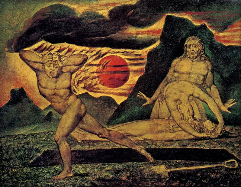 William Blake, The Body of Abel Found by Adam and Eve, 1826