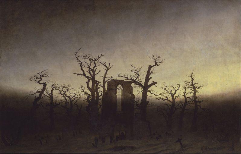 Caspar David Friedrich, Abtei im Eichwald (The Abbey in the Oakwood), 1810