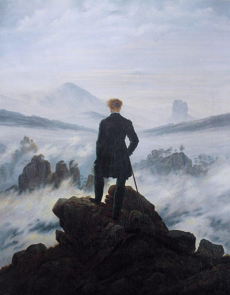 Caspar David Friedrich, Der Wanderer über dem Nebelmeer (The hiker above the sea of fog), c.1817