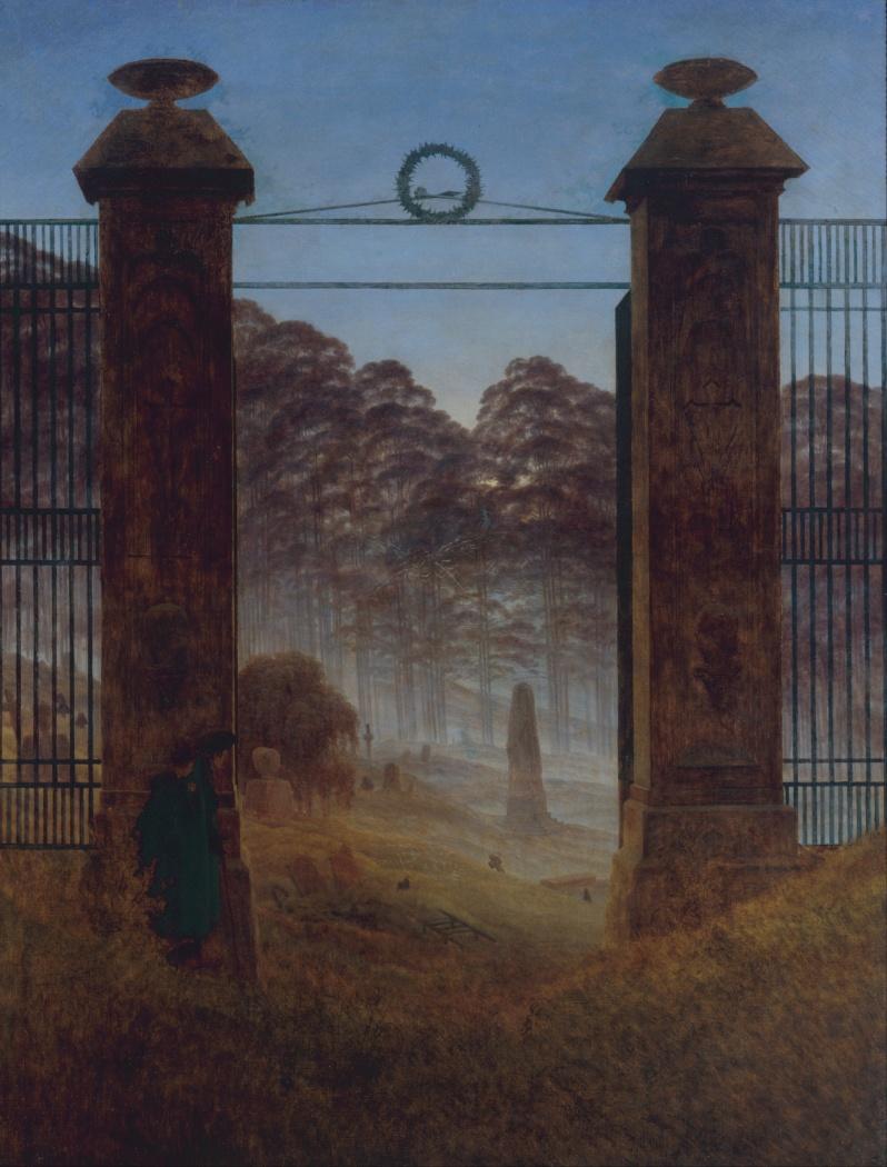 Caspar David Friedrich, Friedhofseingang (The Cemetery Entrance), 1825