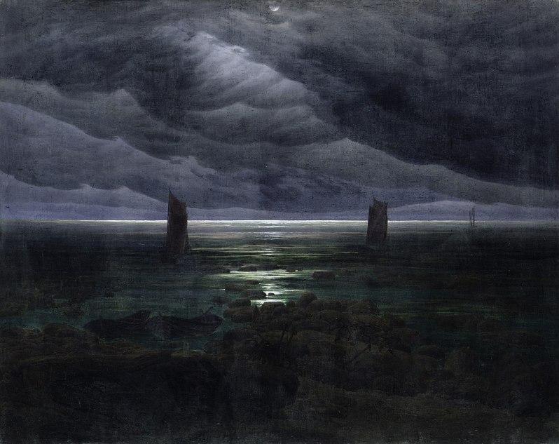 Caspar David Friedrich, Küste bei Mondschein (Sea Shore in Moonlight), c.1836