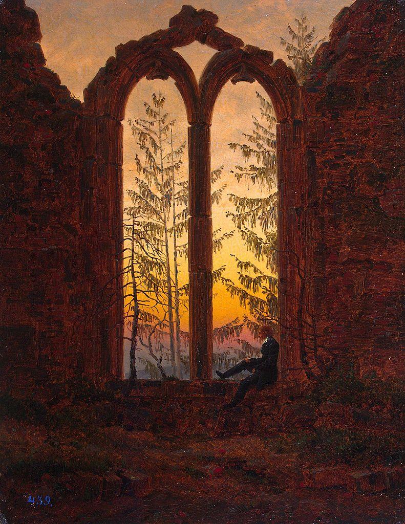 Caspar David Friedrich, Klosterruine Oybin (Ruins of the Oybin), c.1835