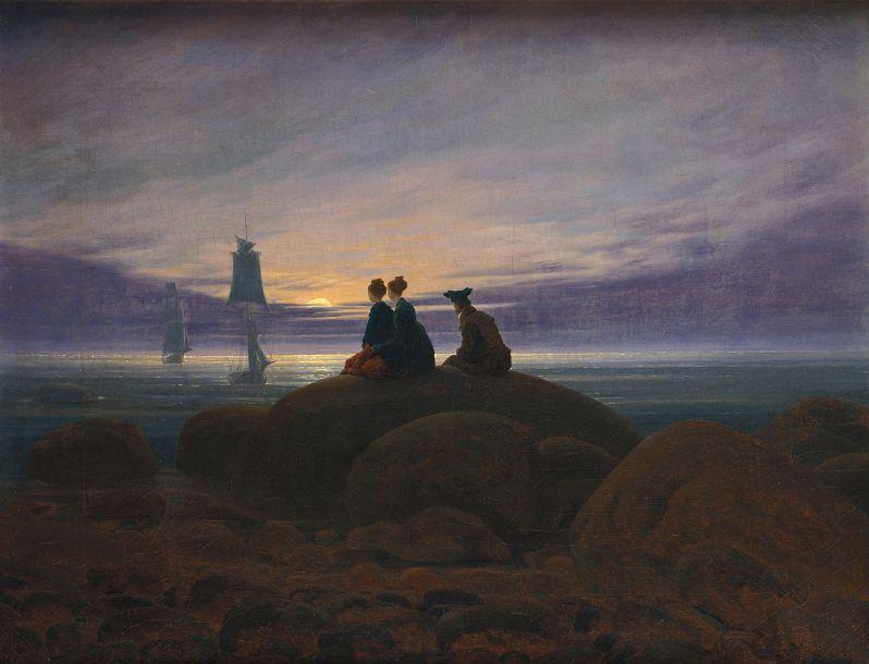 Caspar David Friedrich, Mondaufgang am Meer (Moonrise over the Sea), 1822