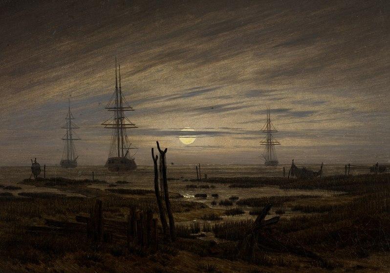 Caspar David Friedrich, Schiffe auf Reede (Ships at Anchor), c.1817