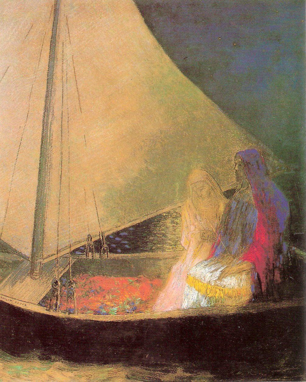 odilon-redon-bateau-a-deux-personnages-1902
