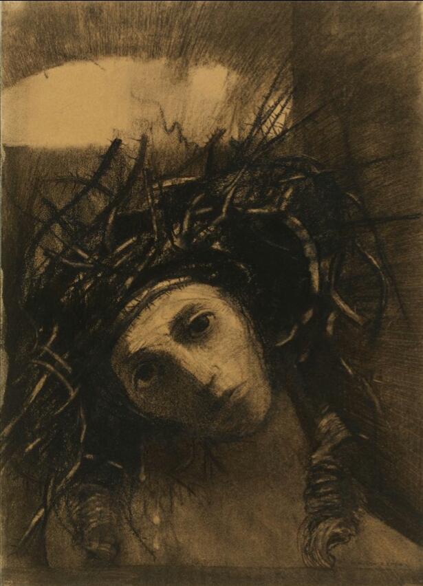 odilon-redon-christ-couronne-depines-1895