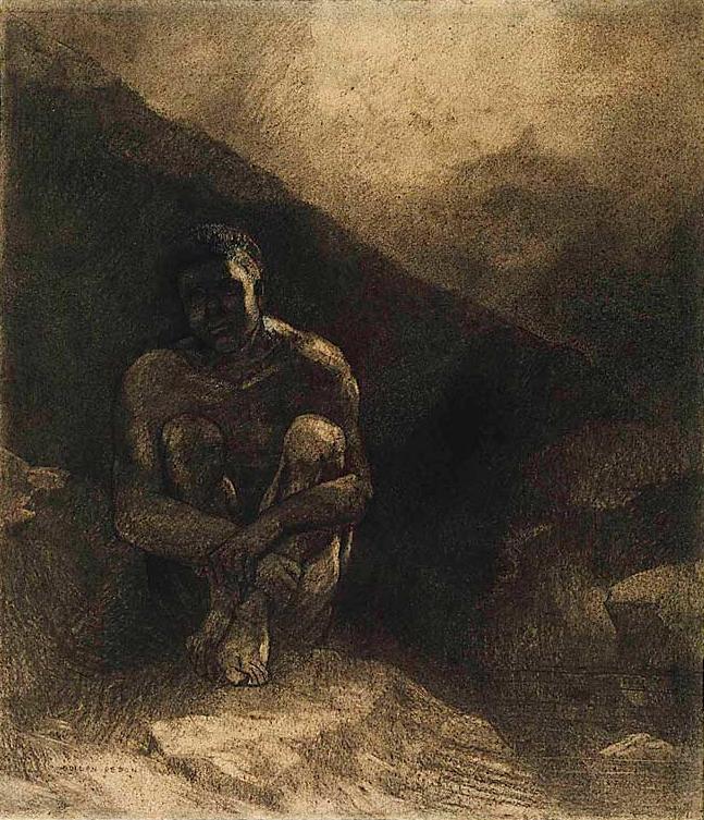 odilon-redon-homme-primitif-assis-dans-lombre
