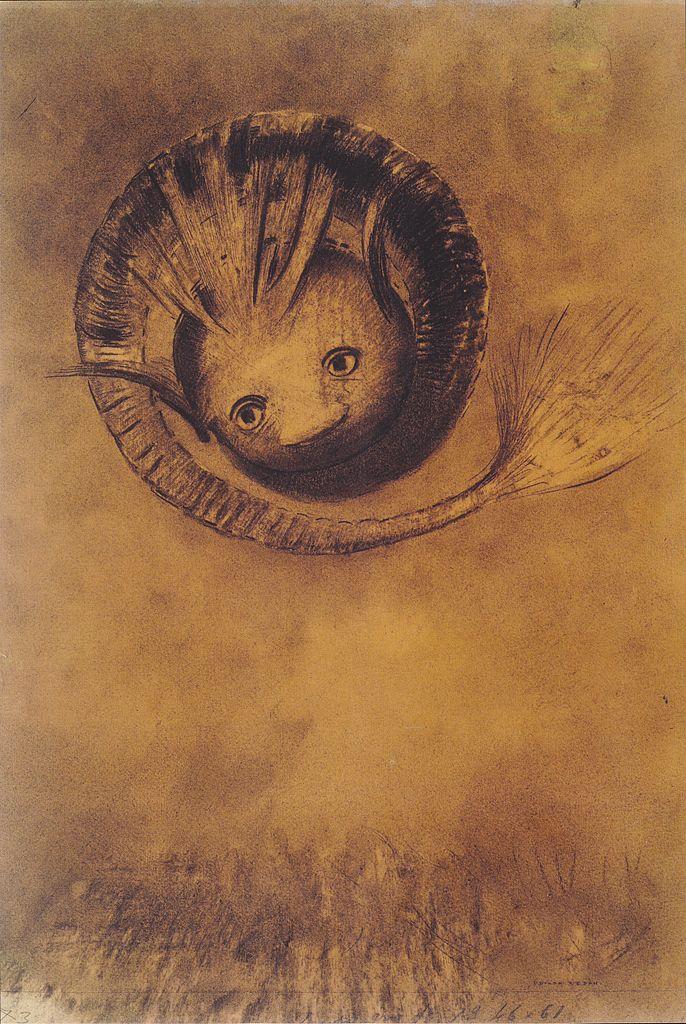 odilon-redon-la-chimere-1883