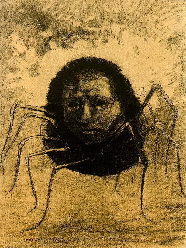 odilon-redon-laraignee-qui-pleure-1881