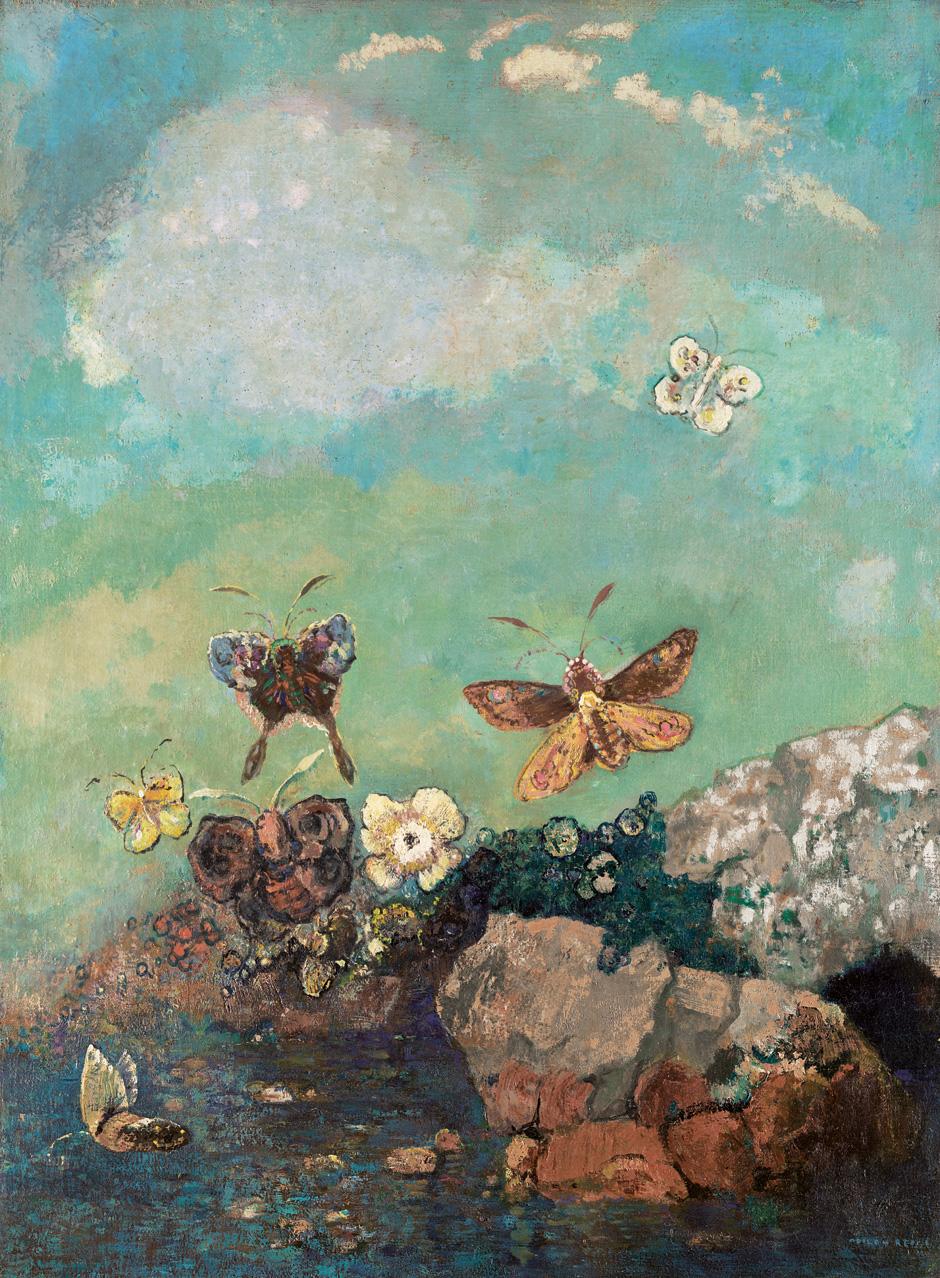 odilon-redon-papillons-c.1910