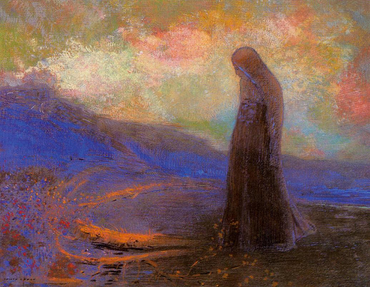 odilon-redon-reflection-c.1900